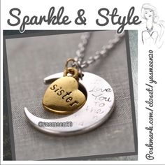 🚨 SALE 🚨 ❤️SISTER NECKLACE ❤️ 🚨 WAS $14🚨❤️For that special sister❤️ Beautiful gold and silver tone necklace 🌟 multiples available 🌟 Accessories