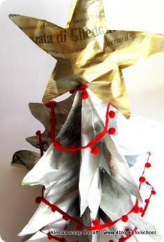3D Christmas tree from recycled paper  by Alessia Scrap & Craft