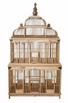 Coricraft De Le Mer bamboo birdcage for Dining room / reception table Antique Bird Cages, Chair Planter, Bird Boxes, Pet Cage, Candle Lanterns, Bedroom Art, Beautiful Birds, Bamboo, Sweet Home