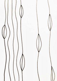 Leafy Lines quilting design
