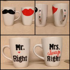 Painted mugs :)