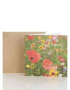 Photographic Poppies Birthday Card