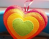 Handmade Blue Rainbow Felt Love Heart. £18.99, via Etsy.