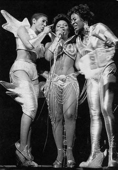 Labelle Nona Hendryx (left), Sarah Dash (center), and Patti LaBelle (right). Starting out as girl group specializing in ballads in the doo-w...