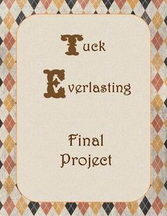 tuck everlasting literary essay This resource includes three parts: the first part is a color coded essay frame for  teacher demonstration for a tuck everlasting response to literature with text.
