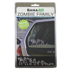 If I put stickers on my car, I would definately put Zombie family stickers. Family Car Stickers, Baby Stickers, Portage Bay, Zombie Party, Christmas Stocking Stuffers, Christmas Stockings, Quirky Gifts, Car Window Decals, My Guy