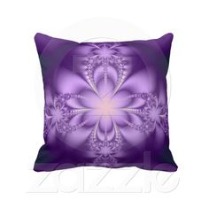 Purple butterflower throw pillows from Zazzle.com
