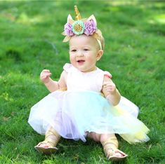 Unicorn Birthday Party? This tutu romper and dress with a pastel full tutu is a must have. Beautiful Pastel Full Tutu with sequin bodice and satin flutter sleeves. The sequin top is a halter. The neck