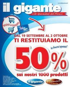 Buoni spesa il Gigante supermercati | Campioni omaggio gratuiti, Concorsi a premi, Buoni sconto - DimmiCosaCerchi.it