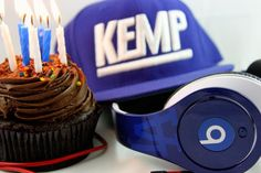 Beats by Dre Custom Dodger Blue Studio headphone, circa 2012 to celebrate Matt Kemp's birthday.