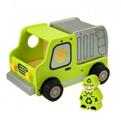 Larger size wheeled play vehicles are great toys to encourage children's role play, social interaction and develop physical skills. Featuring rubber non-skid wheels and movable parts these vehicles are designed for many years of ongoing use. There are seven different designs available, including a bulldozer, dumper truck, crane, police truck, ambulance, fire engine and garbage truck.Produced from sustainabl