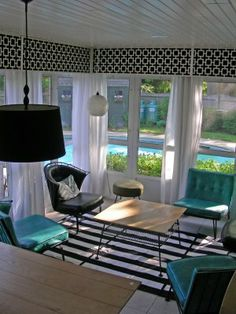 I should do my sunroom like this....inspiration.