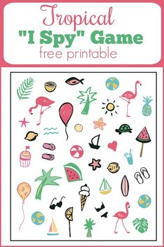 Tropical I Spy Game. Fun for a summer party or road trip! www.Capturing-Joy.com