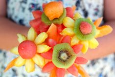 Flores de frutas para mamá, un regalito #saludable @entulínea #adelgazar disfrutando de la #comida
