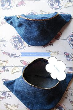 DIY Tutorial Fanny Pack (pattern) how to sew a purse kidney? plus cut diy