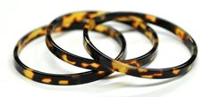 Faux tortoise shell bangle bracelets set of three; Ralph Lauren, NYC in the 1990's.