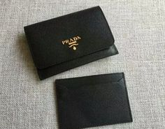 S/S 2016 Prada Wallet Cheap Sale Online-Prada Black Saffiano Leather Credit Card Holder