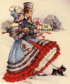 Christmas Stroll Cross Stitch Pattern PDF от lisalskinner на Etsy
