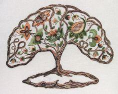 Kreinik Thread Blog: Tree of life-like stitches