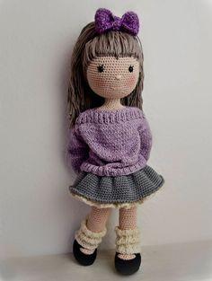 Crochet Patterns-Knitting and Crochet Communication-page Col Crochet, Free Crochet Bag, Crochet Dolls Free Patterns, Crochet Amigurumi, Crochet Doll Pattern, Crochet Chart, Amigurumi Doll, Doll Patterns, Baby Girl Crochet