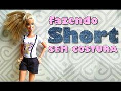 Saia e Meias de Anime | Como Fazer Roupinhas de Bonecas Barbie - YouTube Barbie Clothes, Barbie Dolls, Como Fazer Short, Doll House Crafts, Barbie Patterns, Sewing Dolls, Diy Dress, Diy Doll, Diy Clothing