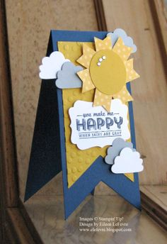 Banner card Stampin' Up!