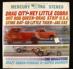 The Dragsters Drag City LP Record Album Crazy Cobra Racing Ferrari Hot Rod Music