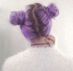Image via We Heart It #cute #diy #fit #girl #hair #purple #chocker