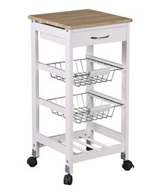 Loving this Metal Drawer Kitchen Cart on #zulily! #zulilyfinds