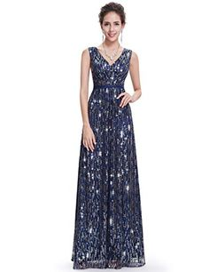 Ever Pretty Womens Shimmery Long Evening Party Dress 4 US Navy Blue -- More info could be found at the image url.