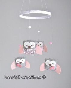 Love the owl theme for baby's room. This pink one will be so cute in a baby girl nursery! by mandyleasmith by concetta