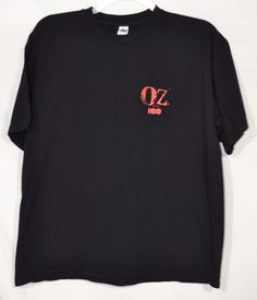 OZ HBO Black/Red Watch Your Back T-Shirt XL Short Sleeves 100% Cotton Prison #HBOExclusive #GraphicTee