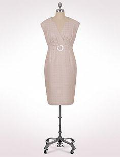 Women's   Dresses   Plus Size Pleated Linen Sheath Dress   dressbarn