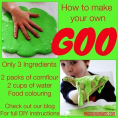 Make your own Goo! {This didn't work with cornflour for me: I'm assuming it would with cornstarch}
