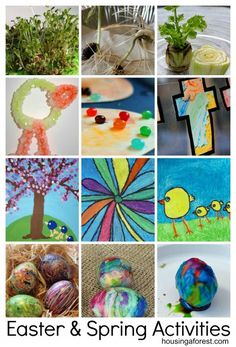 Lots of fun Easter and Spring Activities ~ Easter Crafts, games, egg dyeing, gardening and more!
