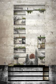 Inspiring grunge textures, very EARTHY colours employing natures relationship with architecture!