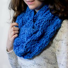 free crochet pattern chunky infinity scarf