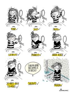Agustina Guerrero, an illustrator based in Argentina, creates comics that show what her everyday life is like. Her work comments on many of the issues that she, as a woman, deals with on a day to day basis. Funny Phrases, Funny Quotes, Caricature, Sara Anderson, Spanish Humor, Funny Times, Humor Grafico, Illustrations, Bored Panda