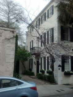 Charleston S.C. Beautiful side entrance to a home. Incredibly French inspired ironwork.