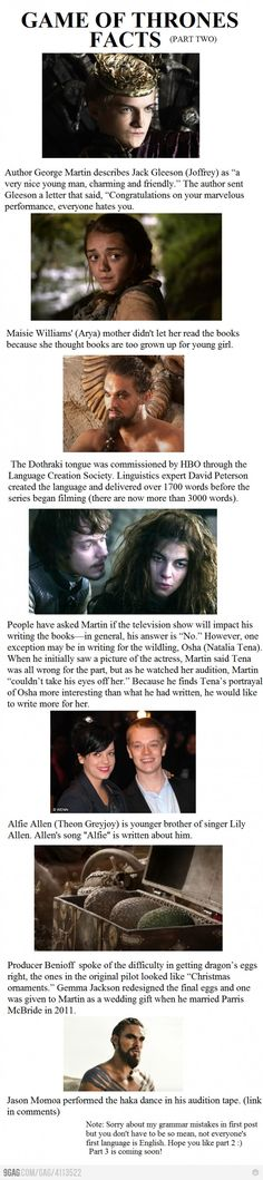 Game of Thrones Facts-Part 2 #got #agot #asoiaf