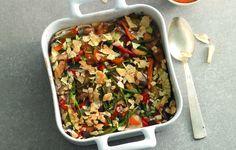 Teglia di sardine e verdure con pane carasau