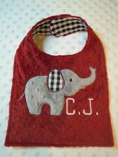 Bama Elephant Bib by TWINSANDQUINN on Etsy, $12.00  I adore this! I'm so glad she'll be here in time for football season!