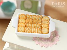 PARIS Galletas de mantequilla en la bandeja♡ ♡