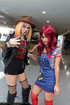 Freddy Krueger and Chucky #NYCC2015
