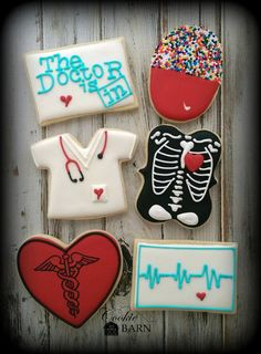 Doctor Physician Nurse Health Care Decorated Cookies by CookieBarn