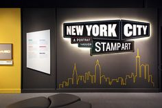 Smithsonian | New York City exhibition + print on Behance: In lieu of individual panels for each of the six exhibition sections, all subject text was gathered onto one graphic. This solved for space limitations in the gallery and allowed the real star of the exhibition—the original artwork on display—to be the focus.