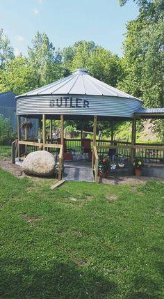 Grain bin pavilion
