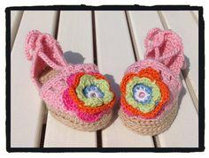 Crochet baby summer sandals espadrille Baby gift. by LittleYeya