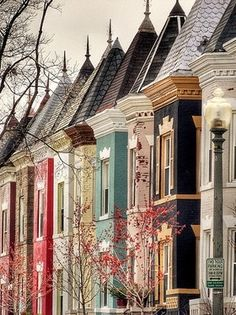 One of my favorite parts of DC - The houses!   Row houses, Washington, DC