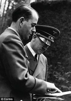 Adolf Hitler and Albert Speer the minister armaments war production Ww2 History, World History, World War Ii, Welthauptstadt Germania, Inside The Third Reich, Luftwaffe, Nuremberg Trials, D Day, Historical Photos